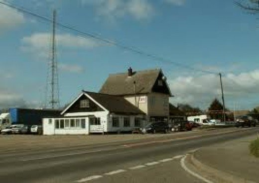 The Silver Ball, roadside cafe by the A10 in northern Hertfordshire at Reed near Royston