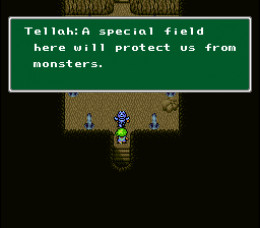 Tellaph introducing the first save spot in a dungeon.  all the way back in 1991.