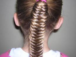 Tight fishtail plait