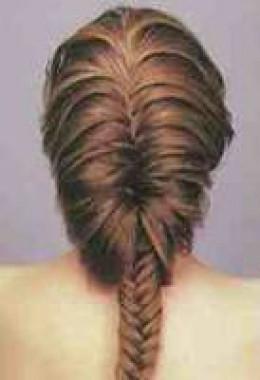 Loose fishtail braids