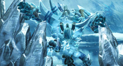 Darksiders 2 Ice Giant appears.