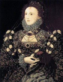 The portrait of Queen Elizabeth 1 by Nicholas Hilliard
