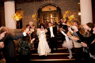 Streamers or Ribbons on Wands are a great alternative and reusable for other events afterwards. Donate them to your church to reuse at other weddings!
