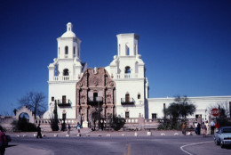 The beautiful Mission San Xavier del Bac in Tucson.