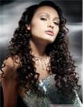 Tight pin curls in long hair