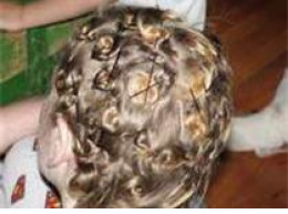 what pin curling look like