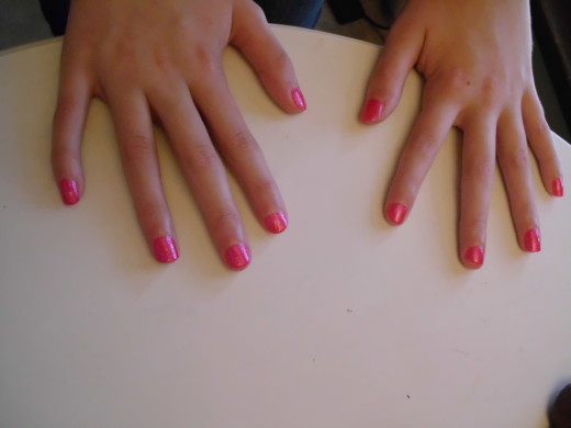 Very pretty manicure from the beauty school $5