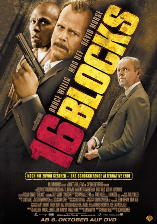16 Blocks (2006) German poster