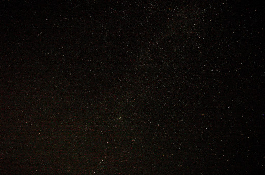 The night sky in the wilderness.
