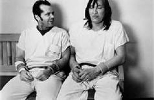 McMurphy with the Indian in the film