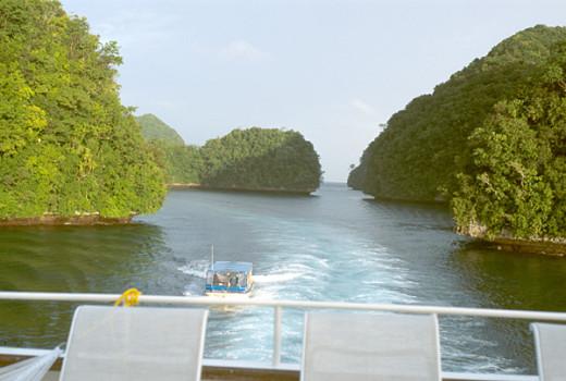 Channel between the Rock Islands, Palau Islands, Micronesia
