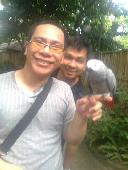 With me is an endangered and elusive species known to like being photographed.  The other one is a bird.