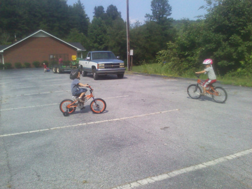 Grandsons had a play date and bike riding with a couple of friends.