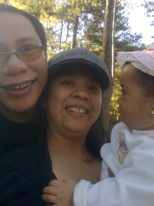 Three of us squeezing into the frame.