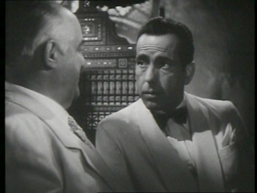 Humphrey Bogart (right)