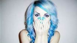 how to dye your hair blue without chemical dyes at home