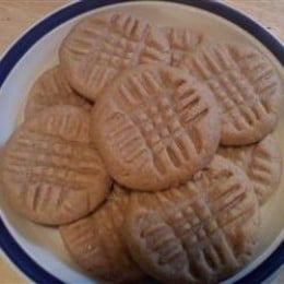 These three ingredient peanut butter cookies are easy to make and oh so delicious.