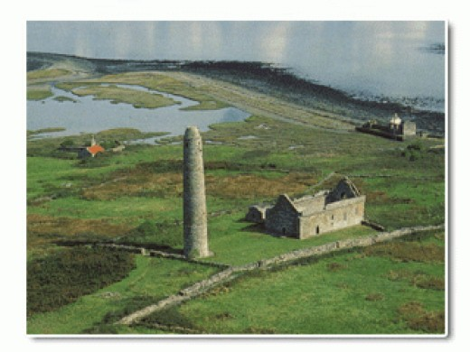 Aerial View of Scattery Island