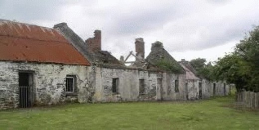 Some of the old homes on Scattery Island