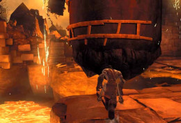 Darksiders 2 the Cauldron - study the area around the obstacles to understand how to navigate the obstacles.