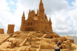 Sand sculptures festival in Belgium