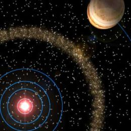 Most asteroids lie in a belt between Mars and Jupiter