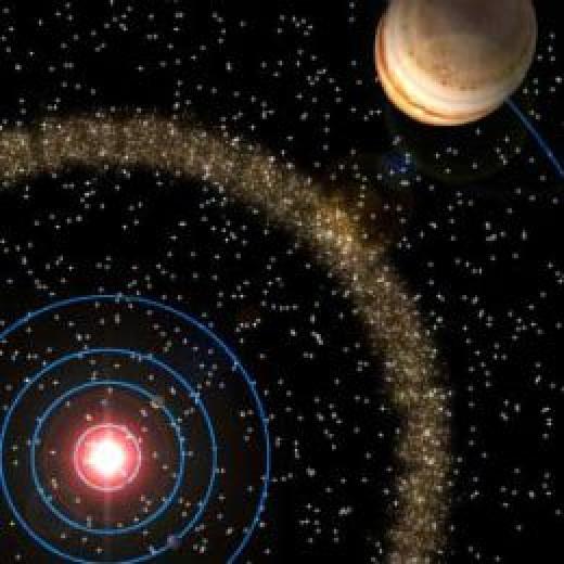 Most asteroids lie in a belt between Mars and Jupiter