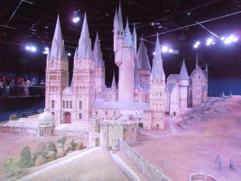 The Hogwarts Castle model that concludes the tour