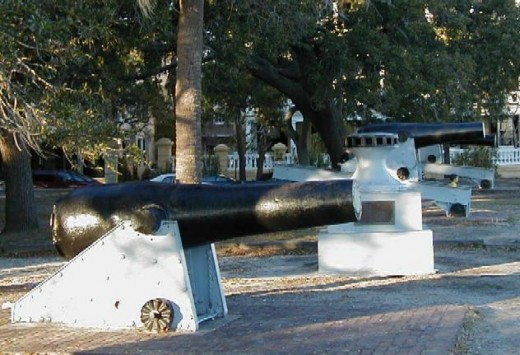 Civil War Cannons On The Battery In Charleston SC