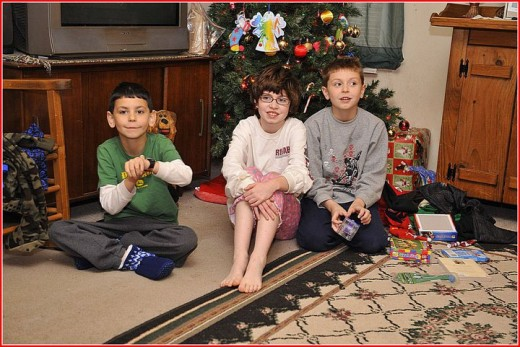 My kids on a cold X-mas day