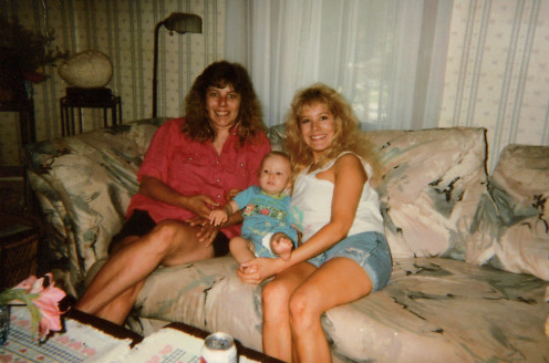 My sister on the left, My first baby, Ryan and me - Brenda on the Right. Create slide shows of baby and kids. Scan old images or import new images digitally to create.