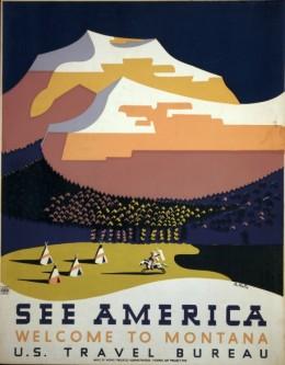 See America: Welcome to Montana, 1938. Artist: Richard Halls.