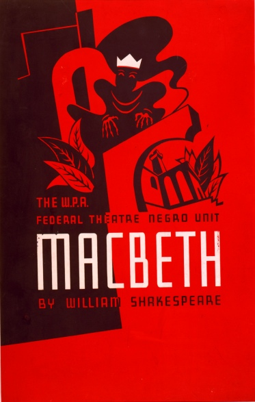 W.P.A. Federal Theatre Negro Unit presents Macbeth, 1938. Artist: Anthony Velonis.
