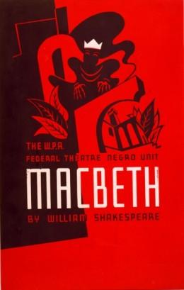 W.P.A. Federal Theatre Negro Unit presents Macbeth, 1938. Artist: Anthony Velonis.