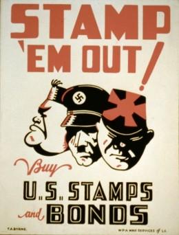 Stamp 'Em Out, 1942.  Artist: Thomas A. Byrne.