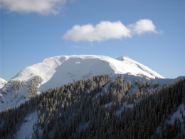 Kachina Peak as seen from the top of the Taos Ski Valley