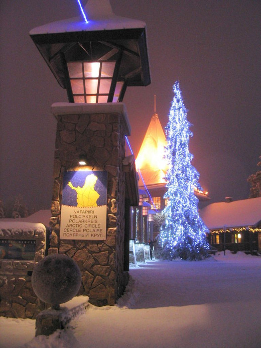 Arctic Circle, Santa Claus' Village in Rovaniemi, Finland