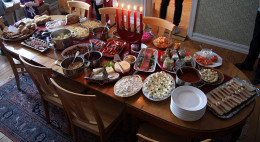 Smörgåsbord Privat_julbord   in a prvate home
