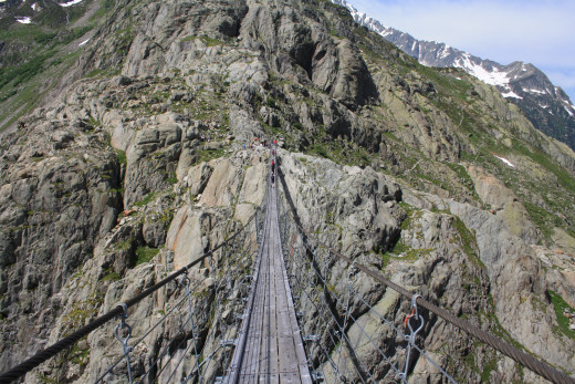 Trift Hanging Bridge, Gadmen, Switzerland