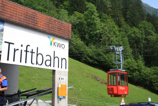 Tritbahn Cable Car Staion, between Nessental - Gadmen, Switzerland