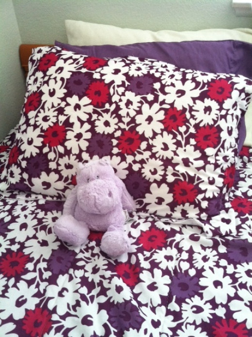 Colorful bedding can brighten any room