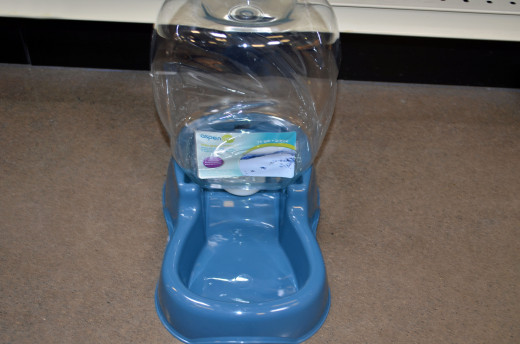 A popular water bowl is the refilling dog water bowl--they drink and it refills with water.