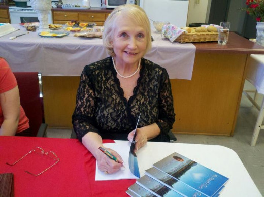 Debbie's first book signing, February 2012