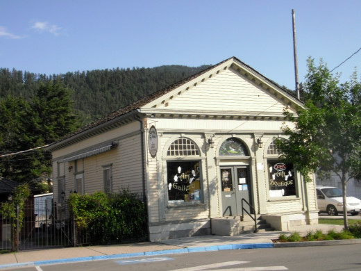 First Bank in Chase, now a gallery and tea room.