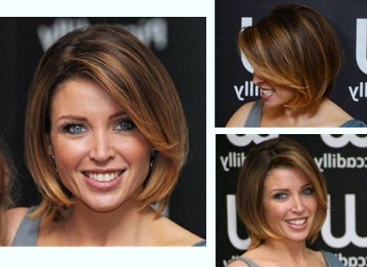 A simple bob with a long side swept fringe