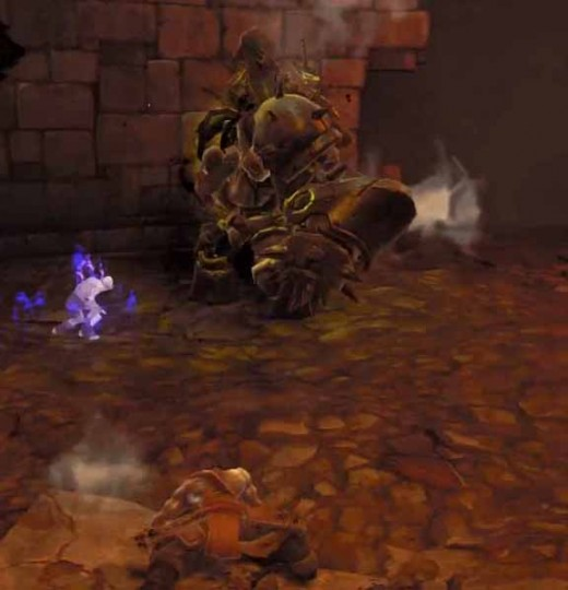 Darksiders 2 Gharn fight - summon ghouls to help defeat Gharn whilst the hero is picking himself up from one of Gharn's devastating attack moves