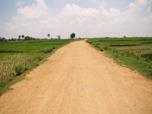 The village road