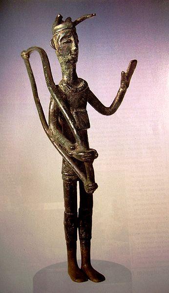Bronze figure from a nuraghic village.