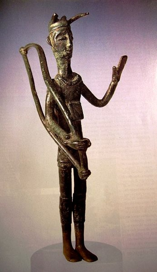 Bronze figure from a nuraghic village.