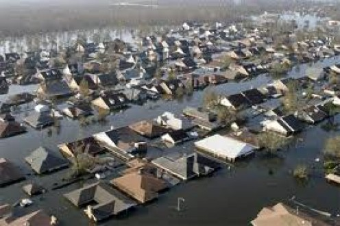 Homes under water during Hurricane Katrina was a common thing but everyone pulled together to get out of danger.